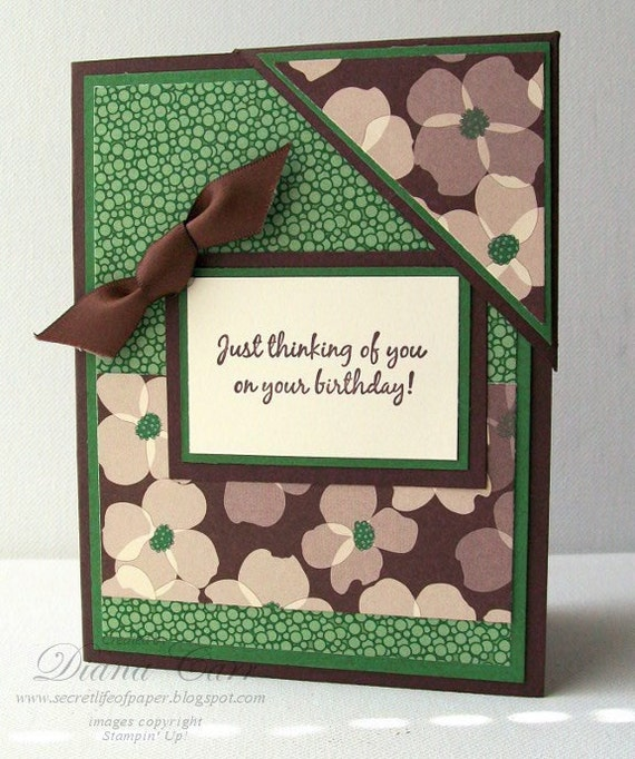 CLEARANCE SALE - Handmade Birthday Card with Corner Bookmark