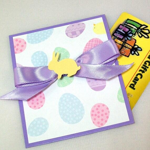 Easter Gift Card Holder - Purple, Easter Eggs, Easter Bunny
