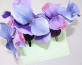 Pinces à cheveux hortensia violets - lot de 2