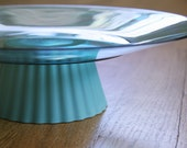 Blue Cupcake Plate