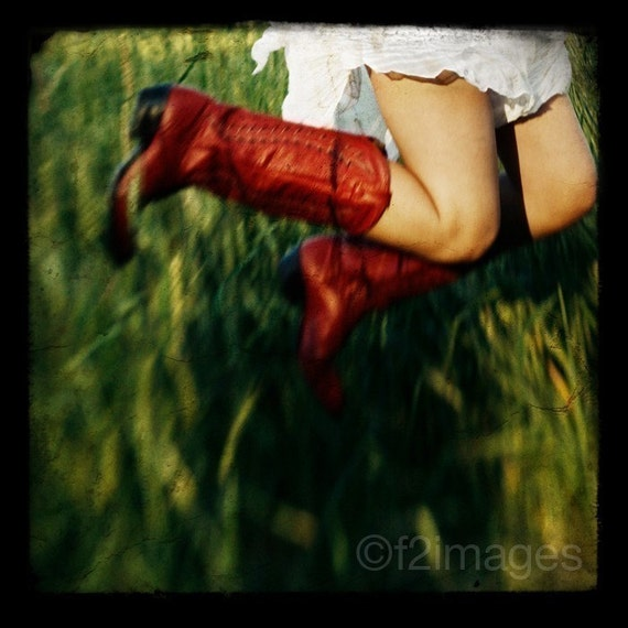 5x5 Red Boots