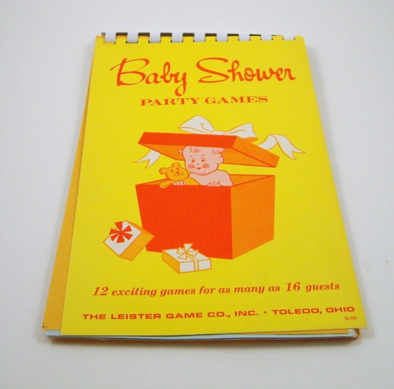 Vintage Baby Shower Games Booklet