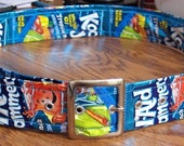 Koolaid Kool-Aid Juice Pouch Buckle Belt  1 1\/2 inches wide  up to 41 inches long CUSTOM MADE Free Shipping