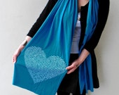 Animal Lover Scarf in Teal