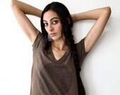 Earth Brown Maternity Womens Tshirt, Animal Group Nouns in Large -  eco friendly, organic clothing gift for new mom