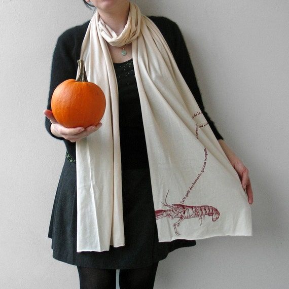 French Pet Lobster Scarf in Creme