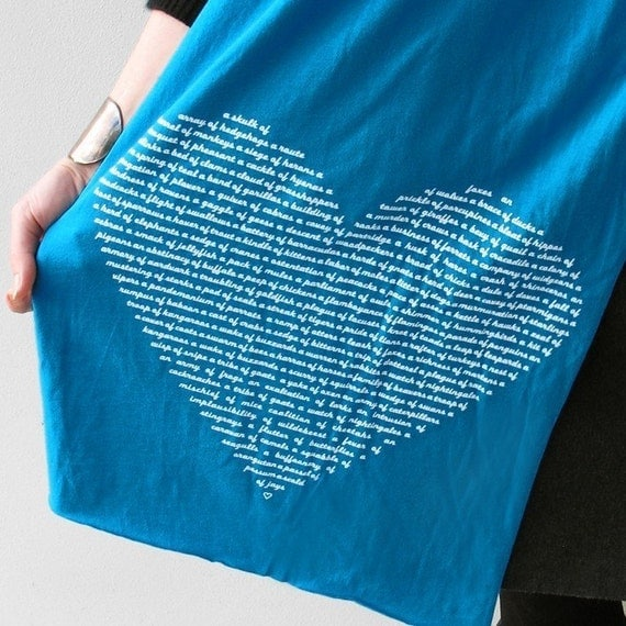 Animal Lover Scarf in Teal : holiday gift for her / stocking stuffer