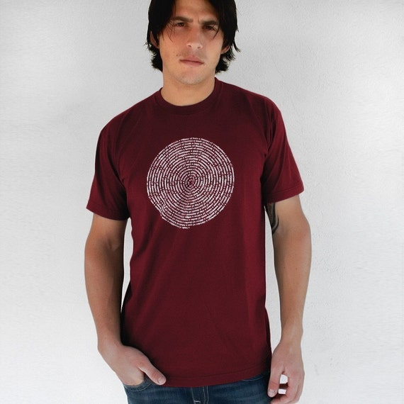 Collective Names of Animals - Mens Cranberry S to XL