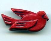 Red Bird Pin