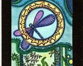 Midnight Dragon  greeting card