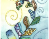 Patchwork of Life Fern / Greeting Card