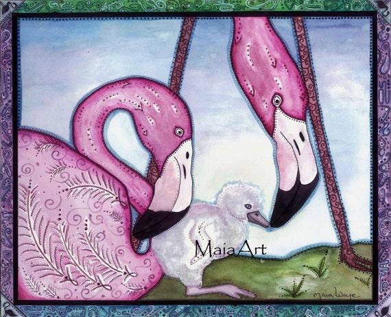 Flamingo Born 8x10
