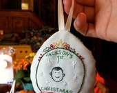 Custom Embroidered Christmas Ornament