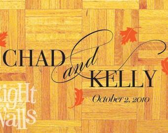 Dance Floor Decal, Personalized Floor Sticker, Fall Wedding, Wedding Floor Decal, Removable Floor Decal