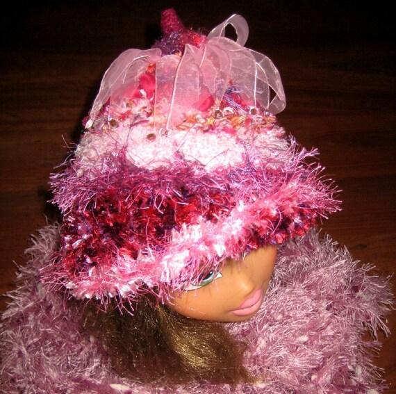 CUSTOM ORDER your childs own Snugglepot Hat, Crochet Rose Flower Fairy Hat