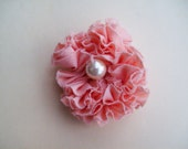 FREE SHIPPING - Small Pink Ruffled Brooch