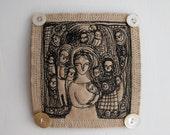 Adoration - original embroidery artwork