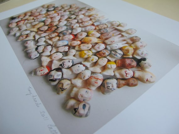 tiny heads series - group shot photograph print - RESERVED FOR J