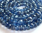 Outstanding Blue AAA Nepalese Kyanite Faceted Rondelles 1/2 strand semi precious gemstone beads