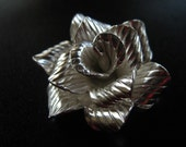 SALE-Large Thai Karen Hill Tribe Silver Rose Flower Focal Pendant Finding Jewelry 38mm