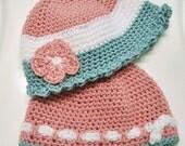 Handmade baby bonnet to fit my Anencephalic newborns head when born