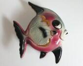 Vintage Anthropomorphic Fish Wall Pocket