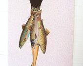 Gone Fishin'. Original collage