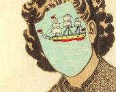 Adrift. Collage print