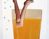 SALE. Juice. Original collage