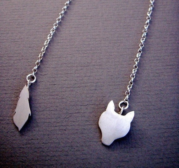 Silver Fox Stole Necklace
