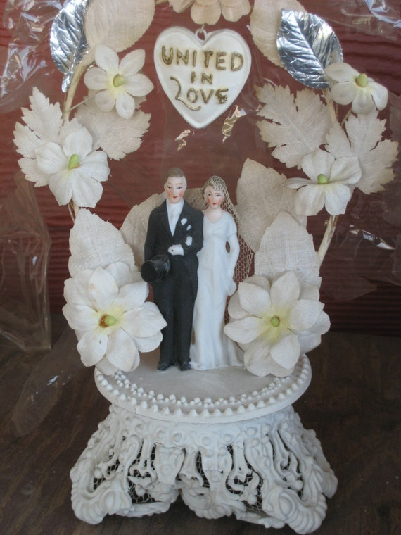 1930s wedding cake 1930s bisque wedding cake topper 10084