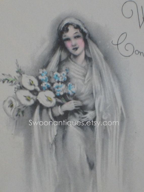 1930s Wedding Card (3426-W)