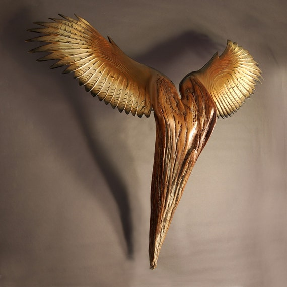 Nike Of The Forest III, Wood Sculpture