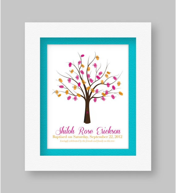 Personalized LDS Baptism - Fingerprint Guestbook Printable