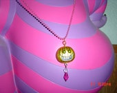 Halloween Pink Silver Green Metallic Pumpkin Witch Ball Chain Necklace Bright Cute and Creepy