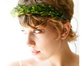 Goddess crown, Natural boxwood wreath, Bridal hair, Wedding accessory, Grecian head piece - ATHENA