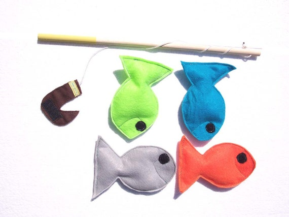 Felt Fishing Game, Ecofriendly,  Montessori Toy -READY MADE