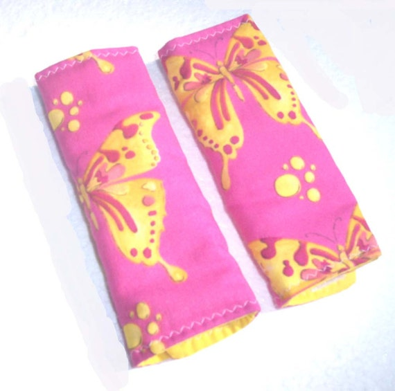 Hot Pink Car Seat Strap Covers