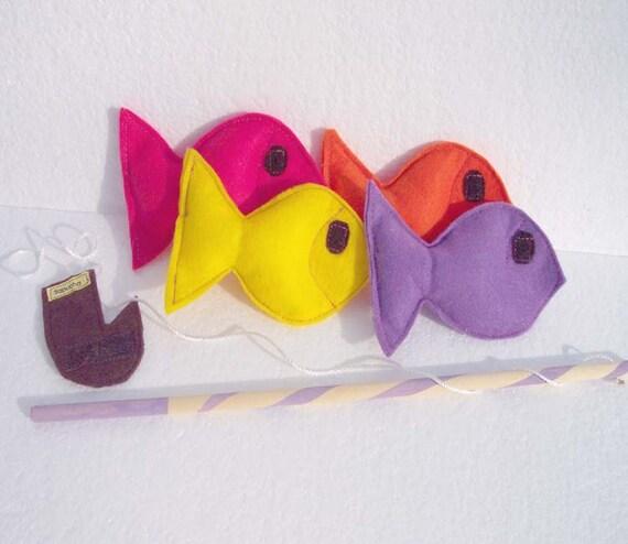 Felt Fishing Game Ecofriendly Felt Fish Toy - READY MADE
