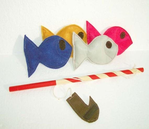 Fishing Game, Ecofriendly Toy,  Montessori Toy - READY MADE
