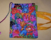 Laurel Burch dogs fabric book cover tote