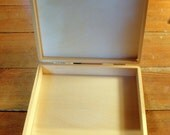 Unfinished Light Wooden Box for Embellishment or Decoupage
