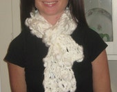 Knitted Snowflake Scarf