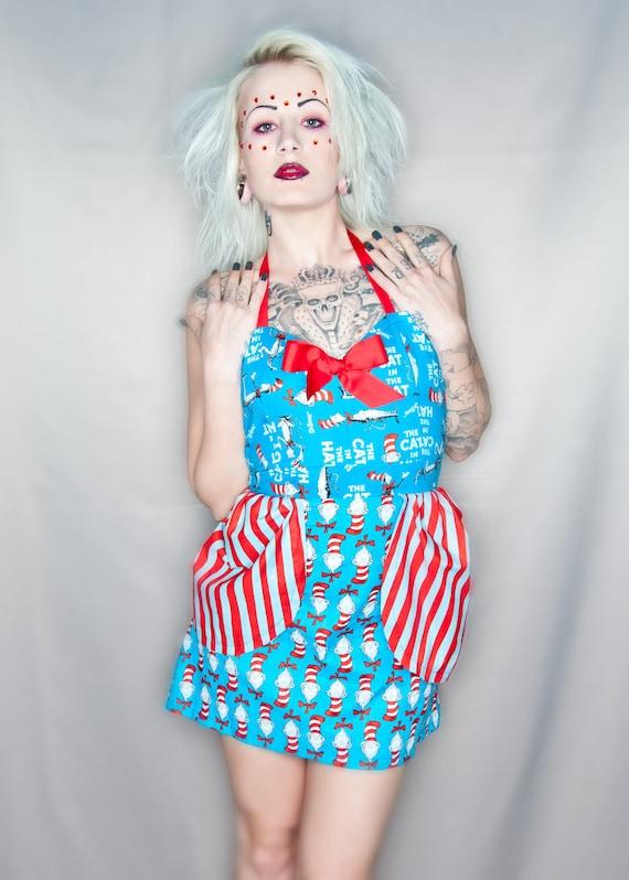 Dr. Suess Cat in the Hat Bustle Halter Dress L XL XXL