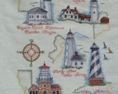 Lighthouses Completed Cross Stitch