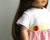 American Girl Doll Clothing - T-shirt Dress in Pale Pink