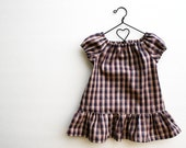 American Girl Doll Clothes - Back To School Plaid Peasant Dress, Made To Order