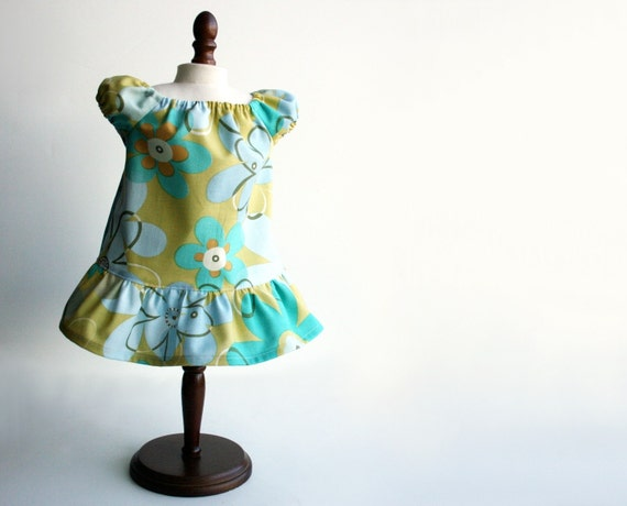 American Girl Doll Clothes - Peasantly Perfect Dress in Funky Flowers, Made To Order