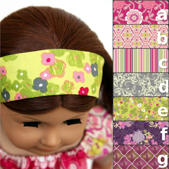 American Girl Doll Accessories - The Rose Ballad Collection, A Headband, You Choose Fabric