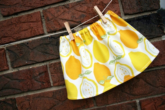 American Girl Doll Clothes - Juicy Lemon Skirt